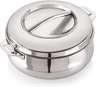 Good Day Avanta-25 Insulated Stainless Steel Serving Casserole with Lid, 2500 ml, Silver