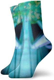 tyui7, Calcetines de compresión antideslizantes de barandilla antideslizantes Calcetines deportivos acogedores de 30 cm para hombres, mujeres y niños