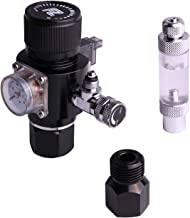 Fzone Aquarium CO2 Regulator Triple Stage with DC Solenoid and Bubble Counter Check Valve..