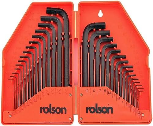 Rolson 40345 - Set di 30 chiavi esagonali