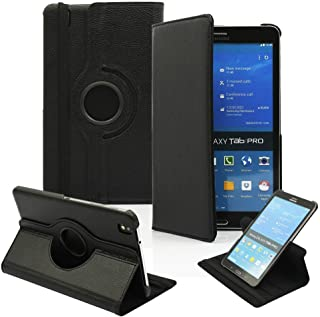 PT Ultra Slim Lightweight Smart-Shell Rotating Leather Stand Protective Cover Case For Samsung Galaxy Tab Pro 8.4