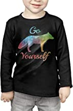 Go Fox Yourself Kids Children Unisex Long Sleeve Cotton Crew Neck T-Shirt Tee