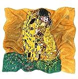 prettystern P582 90cm Stampa Artistica Panno Pittura Art Nouveau Sciarpa di Seta Fazzoletti da testa...