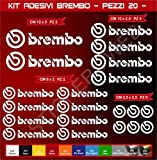 Pimastickerslab Aufkleber Stickers BREMBO -Motorrad- Cod. 0576 (Bianco cod. 010)