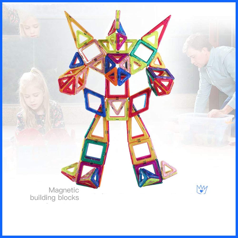 HUAXING Magnetic Blocks 190pcs Magnetic Building Blocks Magnetic Construction Set inklusive Ferris Wheels Carrying Bag Booklet Toys für das Alter 3 4 5 6 7 Jahre alt