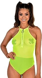 Women's Mesh Fishnet Sheer Bodysuit One Pieces