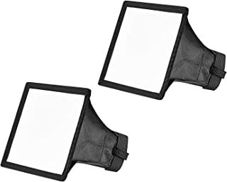 Neewer 2-Pack 6x5 inches/15x13 centimeters Speedlite Softbox Flashlight Diffuser Kit for Canon 580EX II 600EX-RT, YongNuo ...