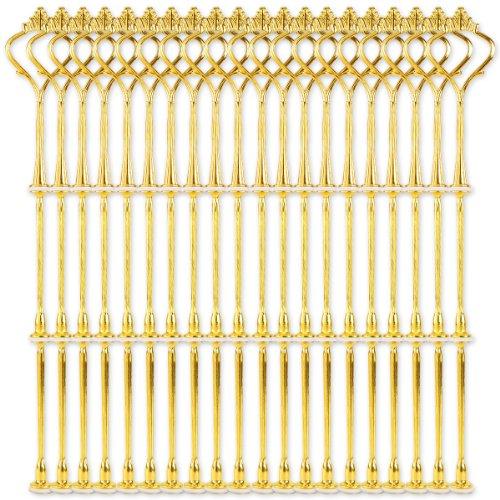 Surepromise 20 Set Metallstange Mittellochausstech Gold 2 3 Etagen Etageren für Hochzeitstorte Tortenständer Tortenhalter Torten