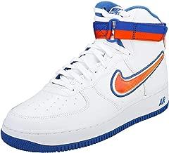 Nike - Air Force 1 High 07 LV8 Sport NBA New York Knicks - AV3938100 - Color: White-Blue-Orange - Size: 12.0