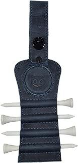 Hide & Drink Golf Tee Holder Leather Gift Hook to Golf Bag Belt Clip :: Slate Blue