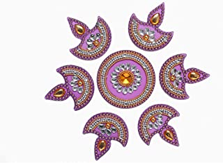 Aditri Creation Small Rangoli/Home Decor/Diwali Diya/Gift for Home/Interior Handcrafted/Floor Stickers/Wall Stickers/Wall ...
