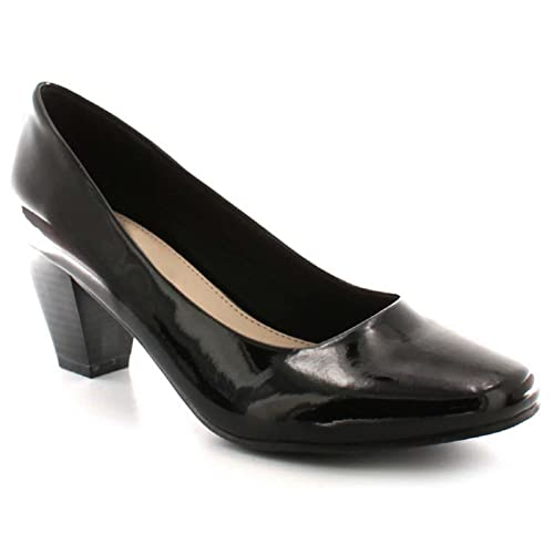 6f36d9e787 Comfort Plus® Ladies Womens Court Shoes Pumps Wide E Fitting Classic Casual  Formal Wider Fit