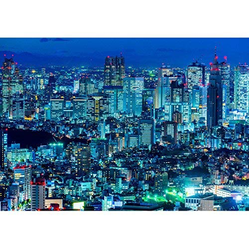 wall26 - Tokyo Skyline, Shinjuku, Japan. - Removable Wall Mural | Self-Adhesive Large Wallpaper - 66x96 inches