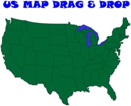 US Map for Kids (Drag and Drop)