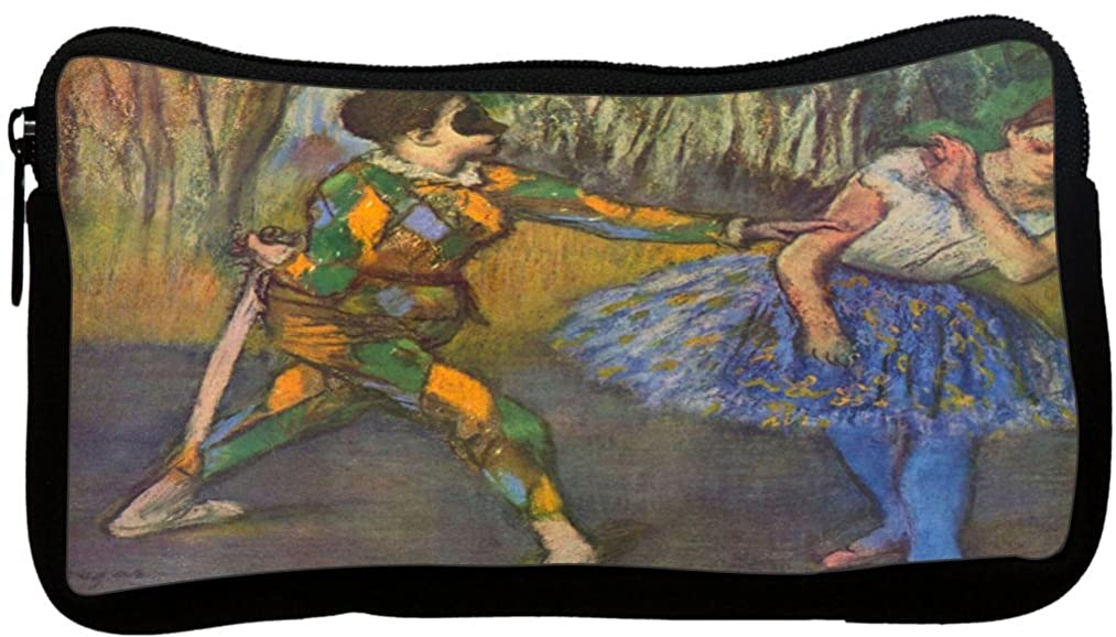 Rikki Knight Edgar Degas Art Harlequin and Columbine Neoprene Pencil Case (dky-Neo-pc3384)
