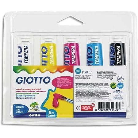Giotto 065000 5 Tubi colori primari 21 ml Assortiti