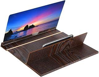 Goshyda 30 cm skärmförstorare, vikbar högupplöst mobiltelefonskärmförstärkare med träkornstativ anti-strålning för att tit...