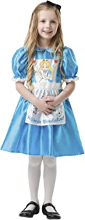 Rubie's Official Disney Alice in Wonderland, Alice Child Costume, Book Day Character - Large Age 7-8, Height 128 cm (641005L)