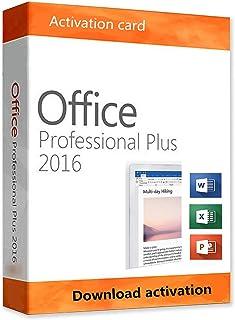 Office 2016 Professional Plus For Windows 10 32/64-Bit Activation Card