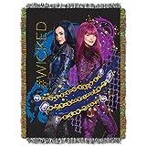 Disney's Descendants 2, 'Glitter Chains' Woven Tapestry Throw Blanket, 48' x 60', Multi Color