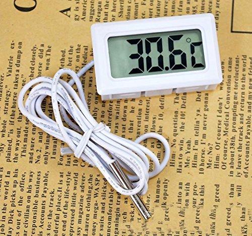 Digital-Thermometer für den Kühlschrank/Gefrierschrank, Stahl, Weiß, von RICISUNG
