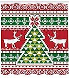 Weihnachten Duschvorhang Rentier im nordischen Stil