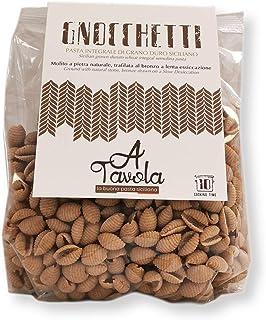 STRAMONDO Gnocchetti de sémola Integral 2kg (4 * 500g), sémola de trigo duro siciliano pasta seca secada elaborada en secado lento, Made in Italy