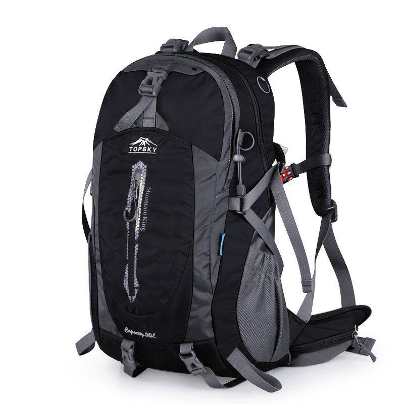ポケットに旅行を送信大容量旅行バックパックレジャー旅行バックパックコンピュータバッグ男性と女性のハイキングスポーツバックパックスポーツアウトドア登山バッグ40 L 50 L多色オプションレインカバーT 33601