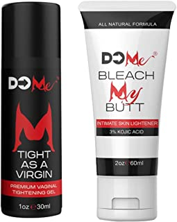 White and Tight Combo - Bleach My Butt Intimate Lightening Cream Bundle + Tight as a Virgin Vaginal Tighening Gel (Bleach My Butt + Tight as a Virgin)