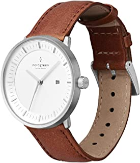 Nordgreen Unisex Philosopher Scandinavian Silver Analog Watch with Leather Or Mesh Strap 10015