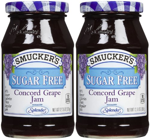 Smucker s Sugar Free Concord Grape Jam, 12.75 oz, 2 pk