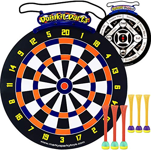 Doinkit Darts Double Sided XL Magnetic Dart Board with 6 Magnetic Darts