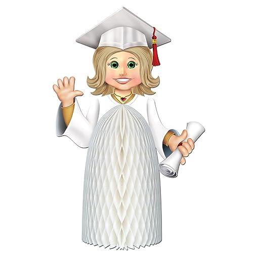 Graduation 3-D Girl Graduate 11-Inch Centerpiece