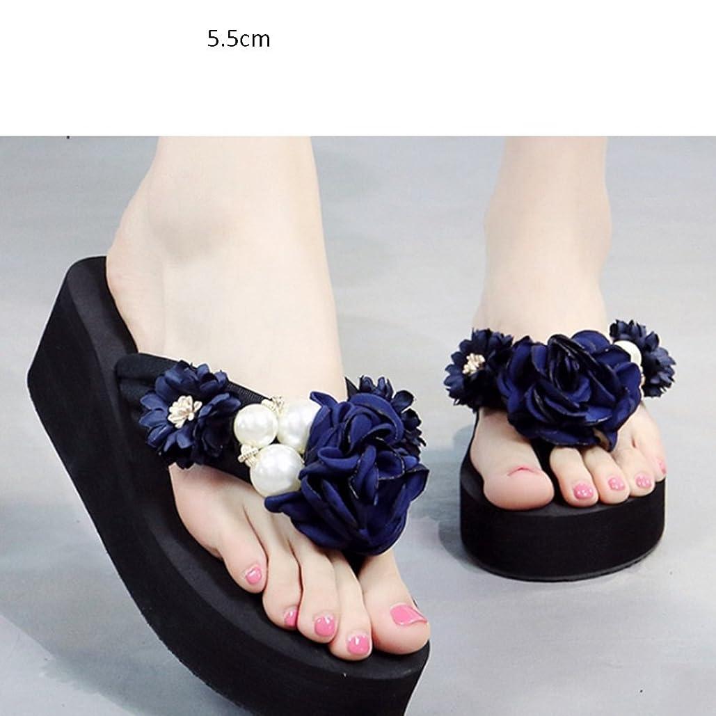 匹敵します序文適合しました快適 スロープと言葉のスリッパ女性の夏滑りやすい甘い花のクールスリッパを着用ファッションフラットサンドビーチシューズアウトドアスリッパ(3色オプション)(サイズはオプション) 増加した (色 : C, サイズ さいず : 36)