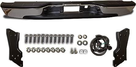 Rear Chrome Steel Step Bumper Assembly For Fleetside Chevrolet Silverado 1500 1999-2006 / For GMC Sierra 1500 1999-2006 - GM1103122