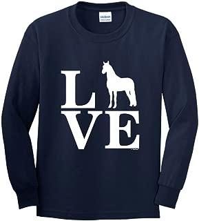 Barnyard Farm Animal, Love Horses Youth Long Sleeve T-Shirt
