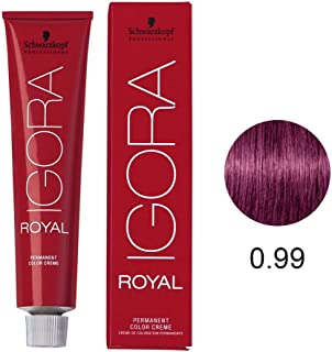 Schwarzkopf Professional Igora Royal Permanent Color Creme, 0-99, Violet Concentrate, 60 Gram