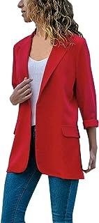 Chaqueta abrigo largo corto rojo roja mujer señora invierno otoño verano primavera cuero americana