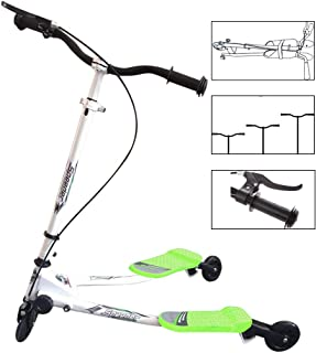 WOOKRAYS Scooter for Kids 3 Wheel Wiggle Scooter Tri Slider Swing Scooter Foldable Push Drifting Scooter for Boys and Girls Age 5 Years Old and Up