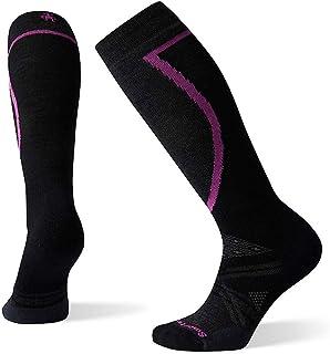 Smartwool Women's PhD Ski Medium Over-the-Calf Merino Wool Socks, Bordeaux, Large