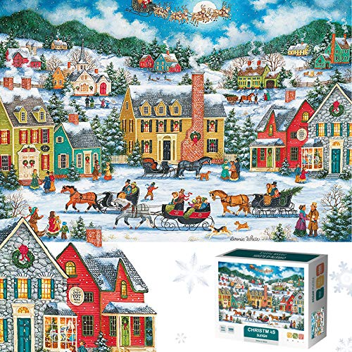 Christmas Puzzle Jigsaw Puzzles 1000 Pieces for Adults and Kids Challenge Game Toys Can Be Used As Gift Home Decoration Family Fun Indoor Activity(6633)