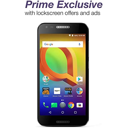 Alcatel A30 GSM (AT&T/T-Mobile) - 16 GB - Black – Unlocked - Prime Exclusive - with Lockscreen Offers & Ads
