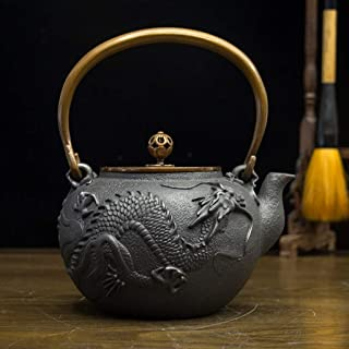 Q-HL Théières En fonte japonaises théière Bouilloire pour théière en fonte, style japonais, en fonte, Tetsubin, Théière ar...