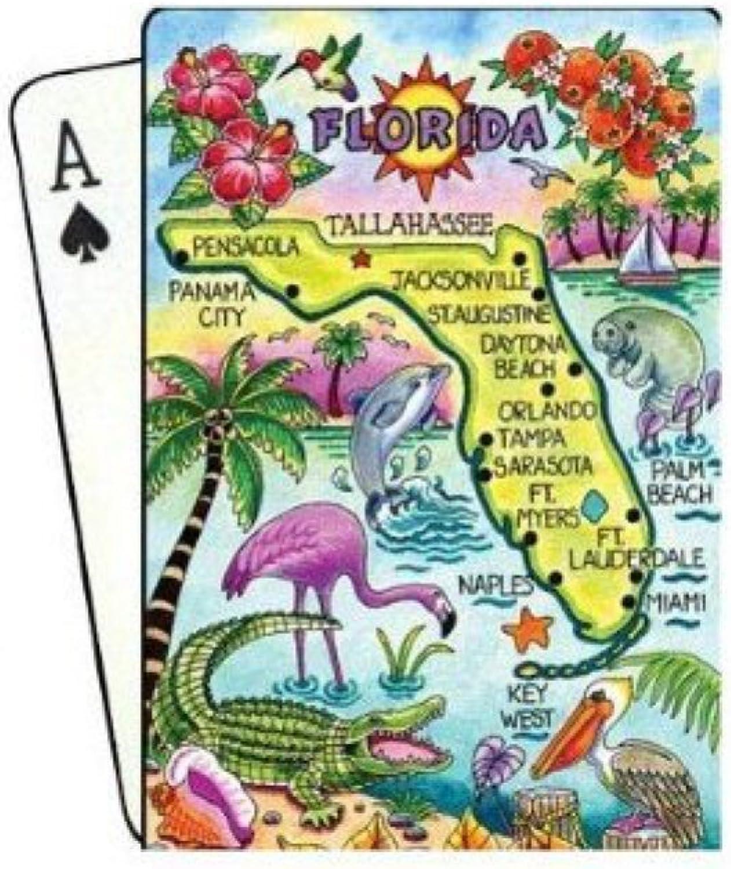 Florida Map Collectible Souvenir Playing Cards