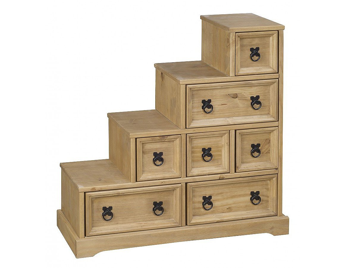 Heartlands Furniture Corona - Mueble para DVD con Forma de Escalera (Madera de Pino Encerada): Amazon.es: Hogar