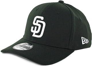 best service aa886 37497 New Era 39Thirty San Diego Padres Flexfit Hat (Black) Men s Stretch Fit Cap