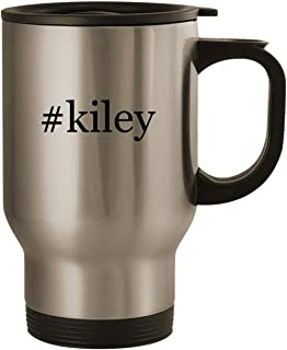 #kiley - Stainless Steel 14oz Road Ready Travel Mug, Silver