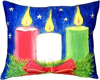 """Betsy Drake NC255 Christmas Candles No Cord Pillow,,16"""" X20"""""""