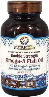 Nutrigold Triglyceride Omega-3 Gold Fish Oil Supplement 60 ct