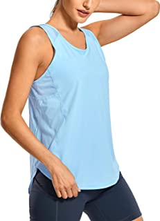 CRZ YOGA Mujer Camiseta de Tirantes de Malla Sin Mangas de Yoga Fitness Deportiva